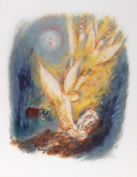 Reuven Rubin V From Visions Of The Bible Lithograph Signed And Numbered In Pe