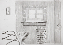 Richard Artschwager Window From Notes On A Room Etching Signed And Numbered