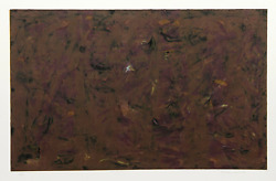Milton Resnick Untitled - Brown Abstract Etching Signed And Numbered In Penci