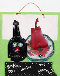 Konstantin Bokov Still Life Acrylic On Board And Found Art Collage Signed And