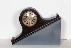 William Stone Correct Time Marker On Mantel Clock On Base Signed Titled And