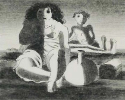 Candacircndido Portinari Untitled - Figures On The Beach Lithograph Signed And Numbe