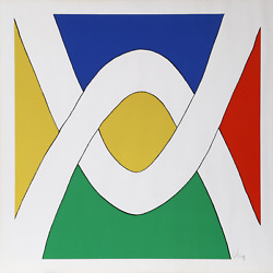 Vera Neumann Untitled - Two Arches Screenprint Signed In Pencil