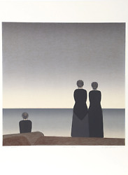 Will Barnet Peter Grimes Lithograph On Arches Signed And Numbered In Pencil