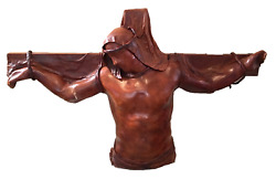 Daphné Du Barry, The Christ Of The Angels, Plaster And Wood With Leather Mixed M