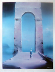 Robert Watson, Untitled - Figure And Archway, Lithograph, Signed In Pencil