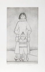 Will Barnet, The Skaters, Etching With Aquatint, Signed And Dedicated In Pencil
