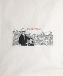 Leonard Baskin Fiorentino Woodcut On Rice Paper Signed And Numbered In Pencil