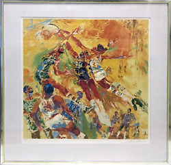Leroy Neiman Basketball Superstars Screenprint Signed And Numbered In Pencil