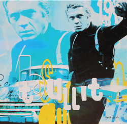 Dganit Blechner Steve Mcqueen - Bullit Screenprint On Canvas Signed And Numbe