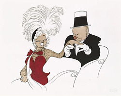 Al Hirschfeld W.c. Fields And Mae West My Little Chickadee Lithograph Signed