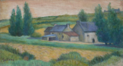 Laurent Marcel Salinas Farm In Northern Brittany 1038 Oil On Canvas Signed
