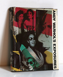 Andy Warhol Andy Warholand039s Exposures Hardcover Book Signed On The Title Page