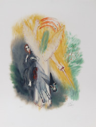 Reuven Rubin Ix From Visions Of The Bible Lithograph Signed And Numbered In P
