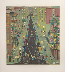 Ralph Fasanella Stickball Screenprint On Arches Paper Signed Numbered And D