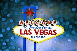 Framed Canvas Print Welcome Fabulous Las Vegas At Night Neon Sign Neveda Casino