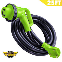 Leisure Cords 25and039 Ft 30amp 90-degree Twist Locking Heavy Duty Extension Cable