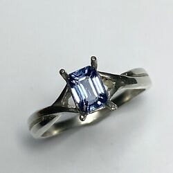 Natural Purple Blue Spinel 925 Silver /9ct 14k 18k Gold Platinum Solitaire Ring