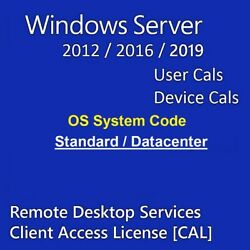 Rds Remote Desktop Services Os Code For Win Server 2016 2019 User/device Cals
