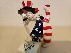 Amy Lacombe Whimsiclay 2001Yankee Doodle Kitty Annaco Creations