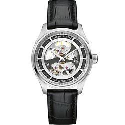 New Hamilton Menand039s Jazzmaster Viewmatic Auto Watch H42555751 40mm Skeleton Dial