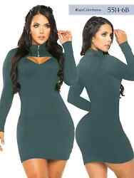 Sexy And Beautiful Authentic Colombian Dress In Green Color 5114-6b By Thaxx