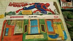 Spiderman Ideal Playset 1973 Mysterio Rhino Flash Thomson Green Goblin And More