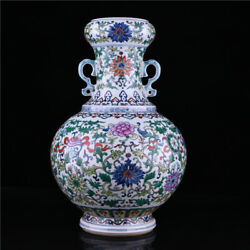 18.8and039and039 China Antique Vase Five-colored Porcelain Vase Old Pottery Bottle