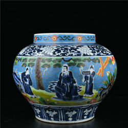 14and039and039 China Antique Pot Blue And White Porcelain Pot Old Pottery Pot Jar