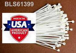 1000 Usa Made Tough Ties 15 Inch 50lb Nylon Tie Wraps Wire Cable Zip Ties White