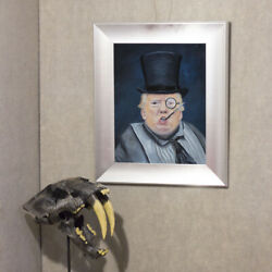 The Penguin Donald Trump Oil Painting Realism 14x18 Contemporary Modern Art