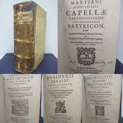 16th Century Sammelband Of Greek And Latin Works 1599/1576/1599/1599 Rare