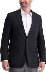 Haggar Menand039s Active Series Solid Gab Tailored Fit Blazer