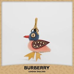 Barry The Duck Shearling And Leather Charm – Pink [rare, Almost Gone]