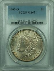 1902-o Morgan Silver Dollar S1 Pcgs Ms-63 Attractive Russet Toning 31