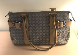 Nine West Brown Handbag 14 By 9 Leather Straps Excellent Condition