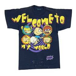 Vintage Rugrats Welcome To My World Cartoon Nickelodeon T-shirt Xsmall