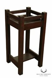 L And Jg Stickley Antique Mission Arts And Crafts Oak Plant Stand