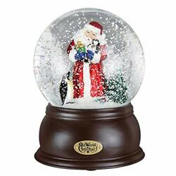 Holiday Snow Globes Glass Blown Ornaments For Christmas Tree Santa With Penguin