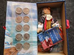 Early American Doll And 10 State Quarters New Jersey George Washington Ott-03166
