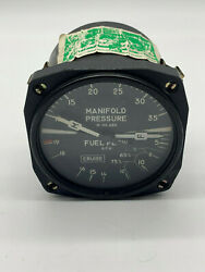 Aircraft Manifold Fuel Flow Pressure Indicator - Removed Working And Guaranteed