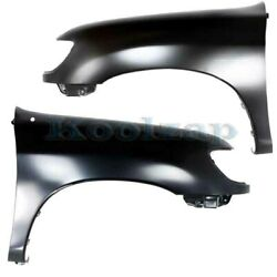 Capa For 00-06 Tundra Truck Front Fender W/o Flare Holes Left And Right Set Pair