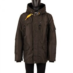 Parajumpers Parka Down Jacket Right Hand Base Removable Lining Khaki Green 08911