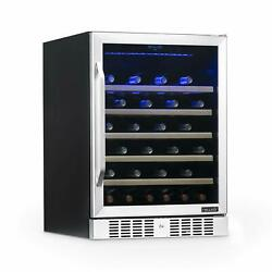 Newair Awr-520sb 52 Bottle Capacity Built-in Wine Cooler And Refrigerator