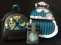 Loungefly Haunted Mansion Disney Parks Ghost Host Hitchhiking Ghosts Leota Set
