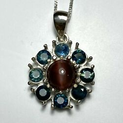 Natural Scapolite Cats Eye 925 Silver 9ct 14k 18k 375 585 750 Gold Pendant
