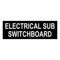Electrical Sub Switchboard Sign Plaque Switch Board Cupboard Electricity Room