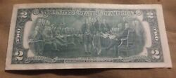 1976 2 Dollar Bill - Trinary, A-28555555-a Serial Number Rare A-a Note
