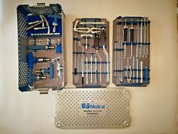 Gs Medical Anyplus Mis System Instruments Set Note Two Items With Broken End