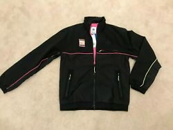 Adidas Mens Black Long Sleeves With Zip Pockets Track Jacket Fr0594 Us Size S